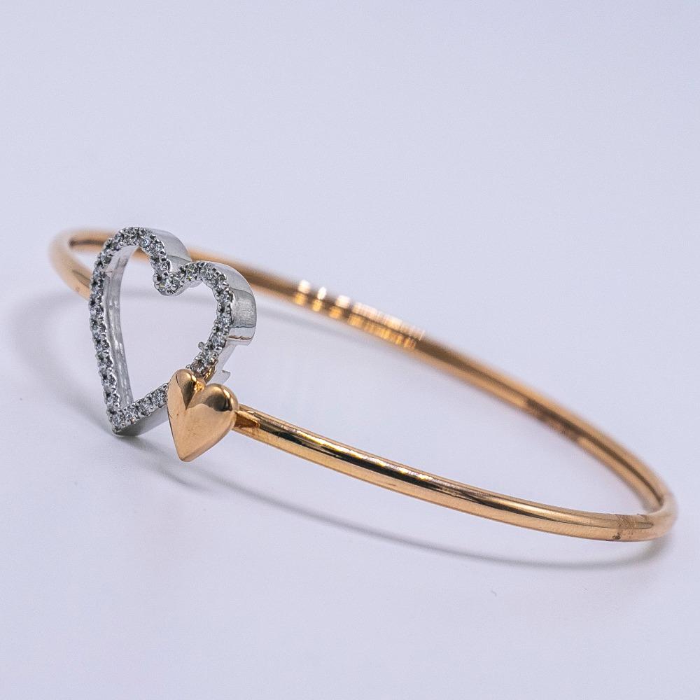 18k  gold diamond heart design bracelet  agj-lr-59
