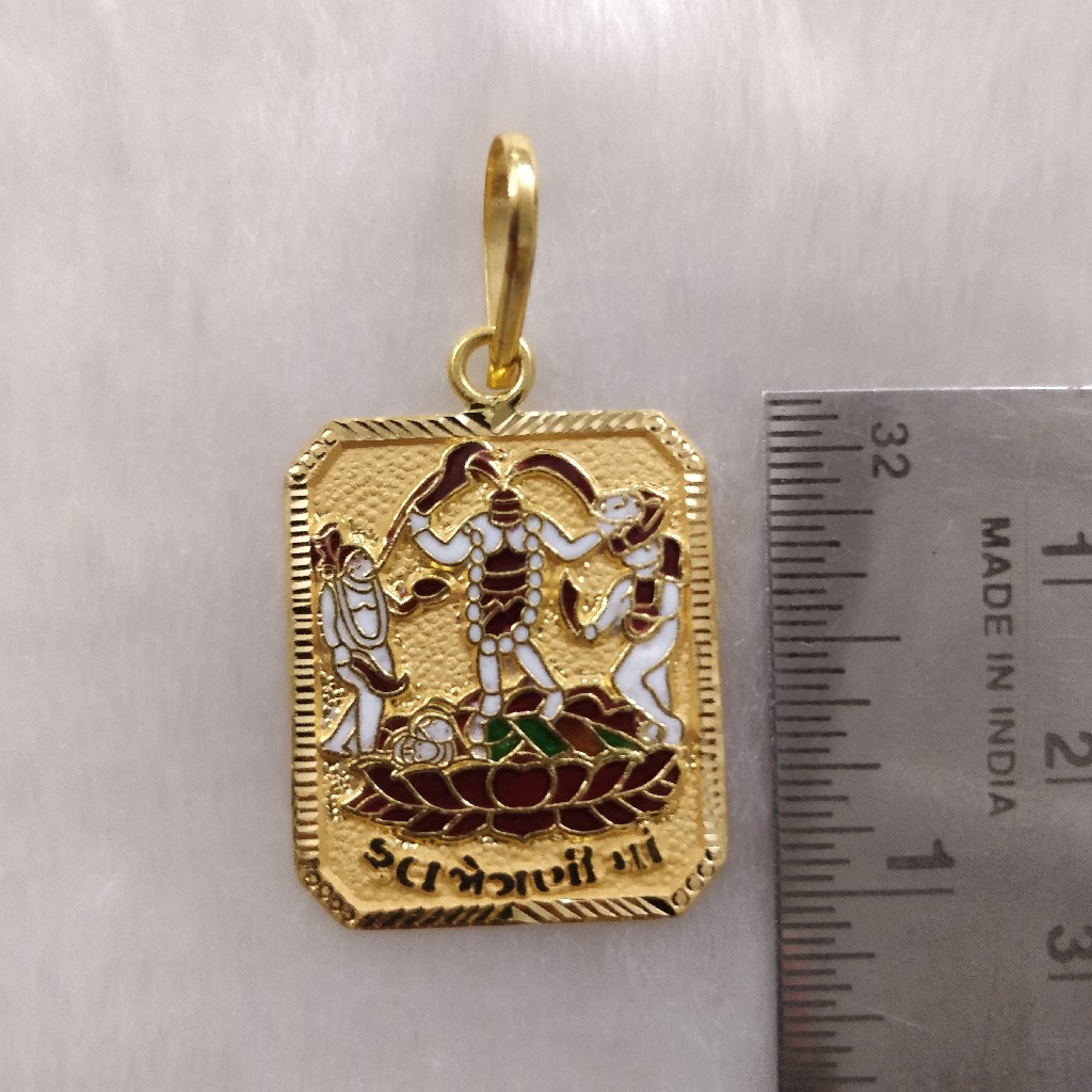 916 gold Fancy Gent's Fuljogani Maa Pendant