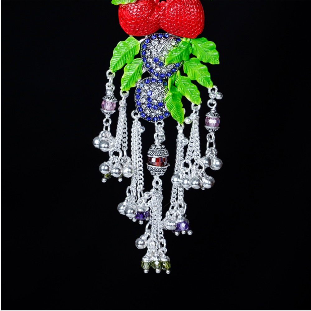 Silver Fancy Strawberry Shape Juda