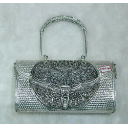 PM/SILVER JAIPURI ANTIQUE PURSE