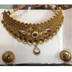 JHANVI CHOKAR ANTIQUE NECKLACE ST0117