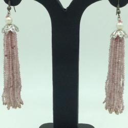 Pink QuartzStones Ear Chandelier HangingsJER0023