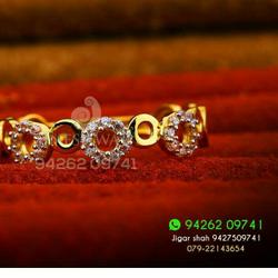 Cz Gold 916 Fancy ladies Ring LRG -0193