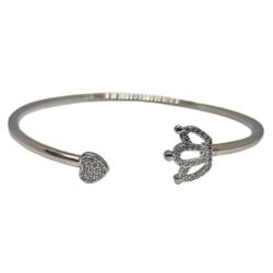 925 Sterling Silver Queen Shaped Fancy Bracelet MGA - BRS1967