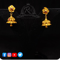 22 carat gold classical earrings ladies jhumka RH-ER600