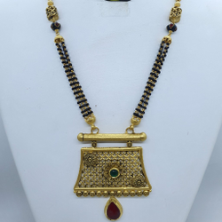 Antique Jadtar Mangalsutra with Fusion in designs