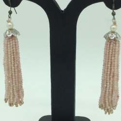 Pink OpalStones Ear Chandelier HangingsJER0024