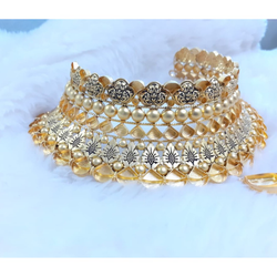 916 Gold Designer Kundan Choker Set KG-N09