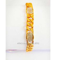 916 Gold Singapuri Style Jents Braclet