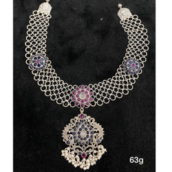 Silver Necklace Temple by Puran Ornaments