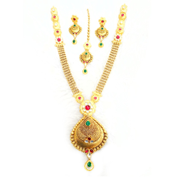 916 Gold Antique Necklace Set MGA - GN030