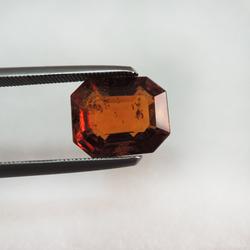 4.00ct rectangle natural hessonite-gomed KBG-G005