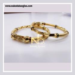 916 Gold Patra Bangles NB - 833