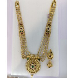 ANTIQUE CHANDAN HAAR NECKLACE SET ST0122