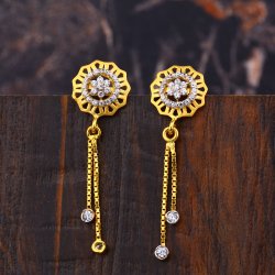 Ladies 916 Gold fancy Latkan Earrings -LFE152