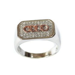 925 Sterling Silver Audi Ring MGA - SR004