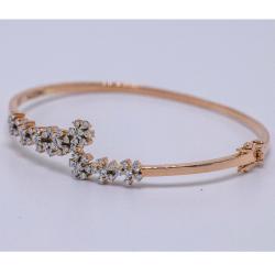14K gold diamond bracelet agj-br-69