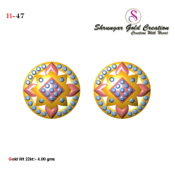 916 Gold Round Shape Tops