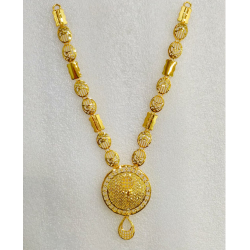 916 Gold Fancy Long Necklace Set MJ-N007