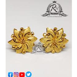 22 carat gold traditional ladies earrings RH-ER333