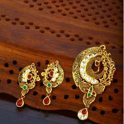 916 Gold Hallmark Trendy Pendant Set