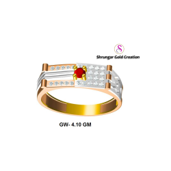 22KT Rose Gold Diamond CZ Ring