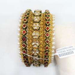 916 Gold Antique Rajwadi Kada RHJ-6296