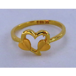 916 plain casting heart shape ring