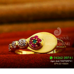 Gold Cz Fancy Ladies Ring LRG -0208