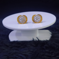 22KT/916 Yellow Gold Ghiz Earrings For Women