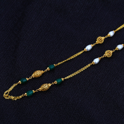916 Gold Ladies Chainmala-AC44