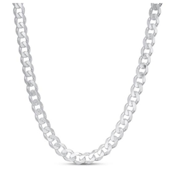 22kt white gold chunky chain jkc002