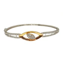 925 Sterling Silver CZ Diamond Designer Bracelet MGA - BRS1771