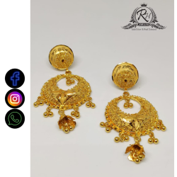 22 carat gold traditional ladies earrings RH-LE495