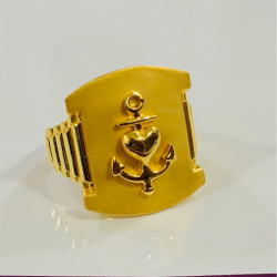 916 Gold Gents Anchor Heavy Ring