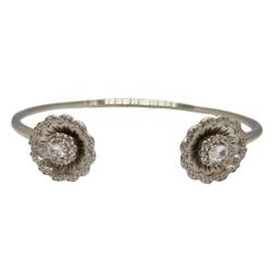 925 Sterling Silver Flower Shape Designer Bracelet MGA - BRS1971