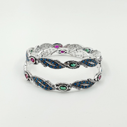 92.5 ANTIQUE SILVER BANGLE SL B027