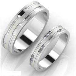 95 pure platinum couple Ring