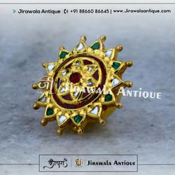Antique Gold Jadtar Bor cum Rakhadi (Bandhi)