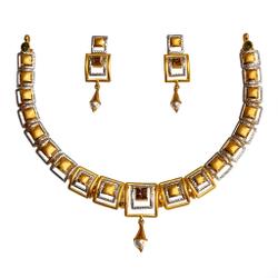 22K Gold Designer Necklace Set MGA - GN0096