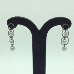 Pearl Silver Ear Hangings JER0162