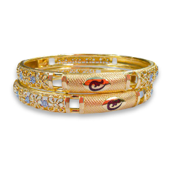 ELEGANT GOLD COPPER KADLI BANGLE