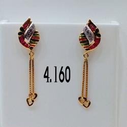 916 Gold Earring AG 02