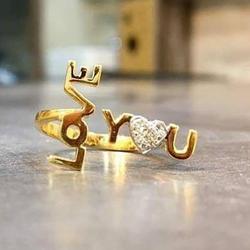 Gold Ladies Diamond Rings by Sneh Ornaments