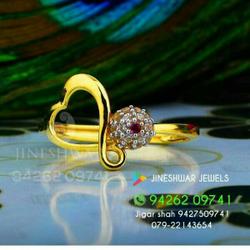 Work Were Cz Gold ladies Ring LRG -0204