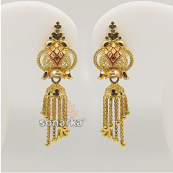 Plain Gold Earrings by