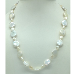 Freshwater White BaroquePearls Knotted Mala JPM0447