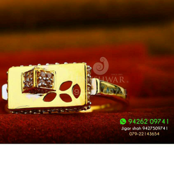 Gold Designer Cz Fancy Ladies Ring LRG -0211