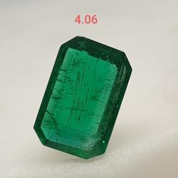 4.06ct octagonal green emerald-panna VG-E05