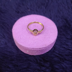 18KT/750 Yellow Gold Daily Wear Sraoi Ring